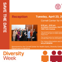 Cornell Center for Health Equity Reception