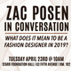 Zac Posen In Conversation