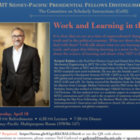 MIT Sidney-Pacific Presidential Fellows Distinguished Lecture with Professor Sanjay Sarma
