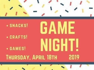 The Peer Support Center Presents: Game Night! Wilder 211