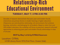 Making the Classroom a Relationship-Rich Educational Environment