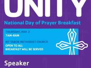 YMCA's Unity National Day of Prayer Breakfast with Jill Crainshaw