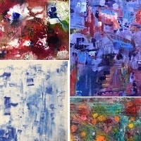Lydia Marek Abstractions Art Show