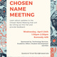 Chosen Name Meeting