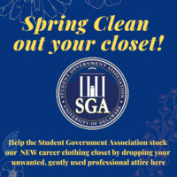 SGA Career Clothing closet donation drive