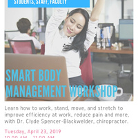 Office of Sustainability Presents: Smart Body Workshop by Dr. Clyde Blackwelder
