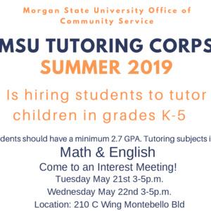 MSU Tutoring Corps Interest Meeting