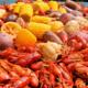 Crawfish boil at Bobbers