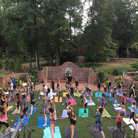 Yoga in the Garden at the Gregg