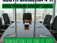 SC 4-H Horse Program Advisory Council Nominations Deadline