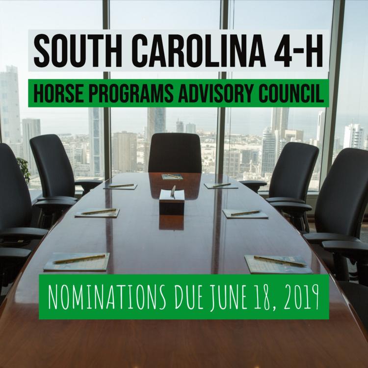 SC 4-H Horse Program Advisory Council Nominations Deadline