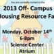 2013 Off-Campus Resource Housing Fair