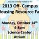 2013 Off-Campus Resource Housing Fair