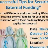 "Black Graduate Student Association General Body Meeting: ""Successful Tips for Securing External Funding"""