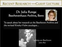 Recent Research Presentation: Dr. Julia Ronge, Guest Lecturer