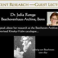 Recent Research Presentation: Dr. Julia Ronge, Guest Lecturer