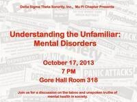 Understanding the Unfamiliar: Mental Disorders