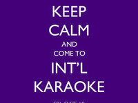 International Karaoke Night: Kickoff to International Weekend!