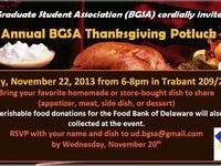 3rd Annual BGSA Thanksgiving Potluck