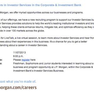 J P  Morgan LiveTalk Virtual Session - Investor Services - Georgetown
