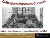 Collegium Musicum Concert